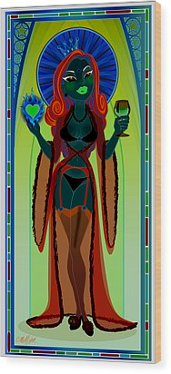 Our Lady Of Perpetual Bliss Wood Print by Cristina McAllister
