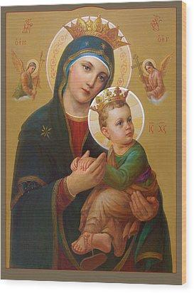 Our Lady Of Perpetual Help - Perpetuo Socorro Wood Print