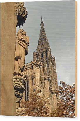 Our Lady Of Strasbourg Wood Print