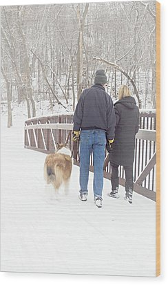Our Love Will Keep Us Warm Wood Print by Larry Ricker