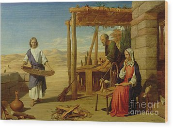 Our Saviour Subject To His Parents At Nazareth Wood Print by John Rogers Herbert