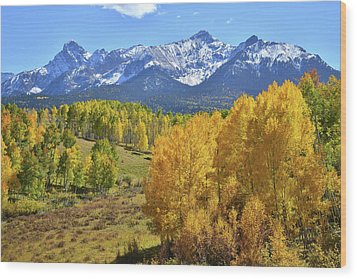 Wood Print featuring the photograph Ouray County Road 8  by Ray Mathis