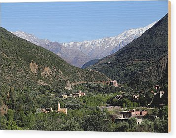 Wood Print featuring the photograph Ourika Valley 2 by Andrew Fare
