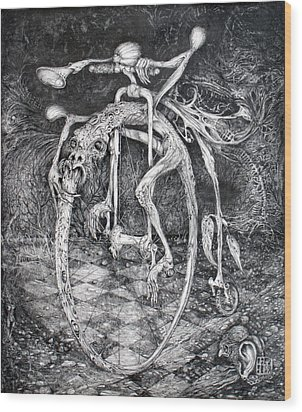 Ouroboros Perpetual Motion Machine Wood Print by Otto Rapp