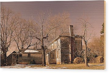 Out Back Wood Print by Patricia Motley