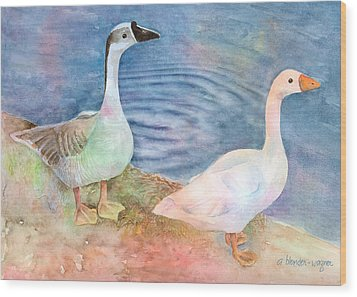 Out For A Stroll Wood Print by Arline Wagner
