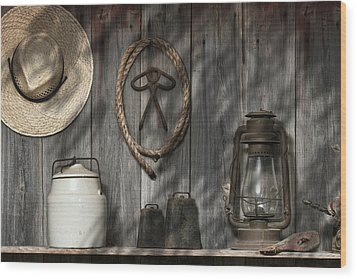 Out In The Barn IIi Wood Print by Tom Mc Nemar