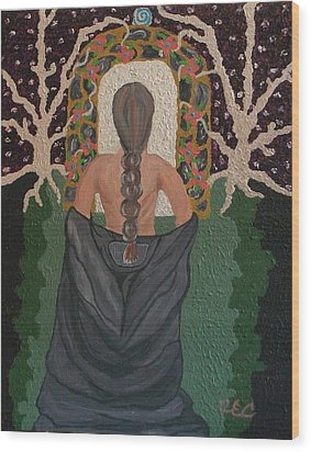 Out Of Darkness Wood Print by Carolyn Cable