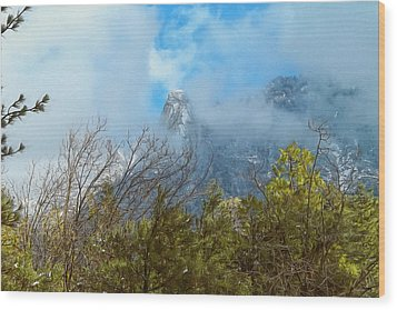 Wood Print featuring the photograph Out Of The Mist by Glenn McCarthy Art and Photography