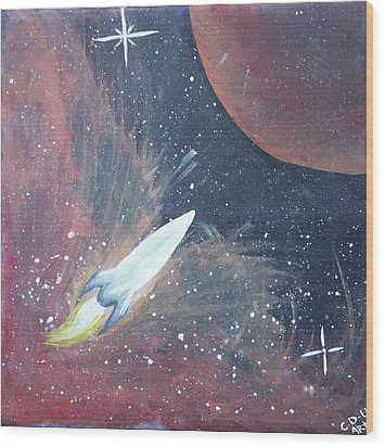 Out Of This World Wood Print by Cyrionna The Cyerial Artist