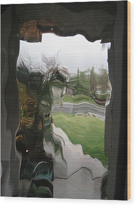 Out The Window Wood Print by Eileen Shahbazian