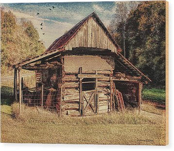 Wood Print featuring the photograph Out To Pasture 2 by Bellesouth Studio
