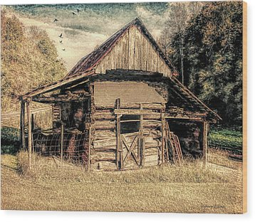 Wood Print featuring the photograph Out To Pasture 1 by Bellesouth Studio