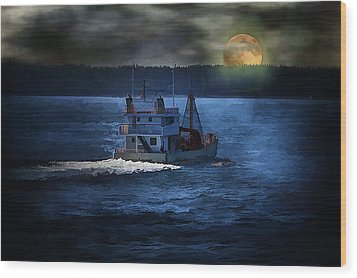 Wood Print featuring the photograph Out To Sea by Gary Smith