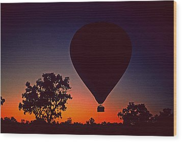 Outback Balloon Launch Wood Print