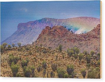 Outback Rainbow Wood Print by Racheal  Christian