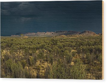 Outback Storm Wood Print