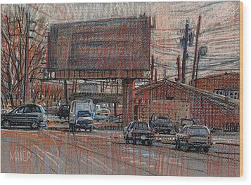 Outdoor Advertising Wood Print by Donald Maier