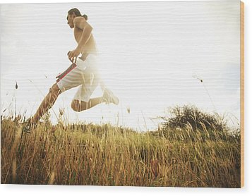 Outdoor Jogging II Wood Print by Brandon Tabiolo - Printscapes