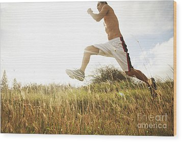 Outdoor Jogging IIi Wood Print by Brandon Tabiolo - Printscapes