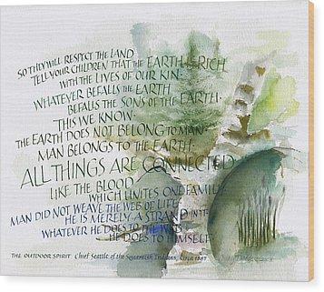 Outdoor Spirit Wood Print by Judy Dodds