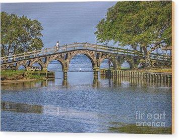 Outer Banks Whalehead Club Bridge  Wood Print by Randy Steele