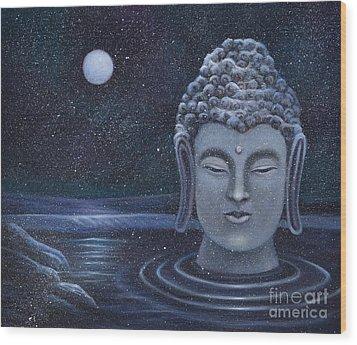 Winter Buddha Wood Print