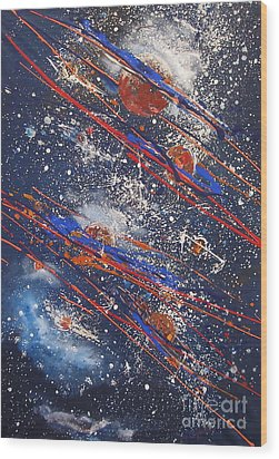 Outer Space Wood Print by Miroslaw  Chelchowski