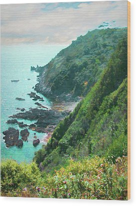 Wood Print featuring the photograph South End Of Guernsey by Bellesouth Studio