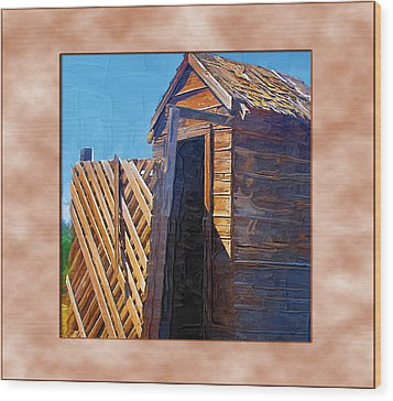 Wood Print featuring the photograph Outhouse 2 by Susan Kinney