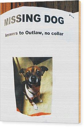 Wood Print featuring the photograph Outlaw by Joe Jake Pratt