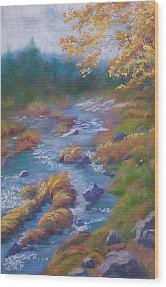 Outside Lake Tahoe Wood Print by Becky Chappell