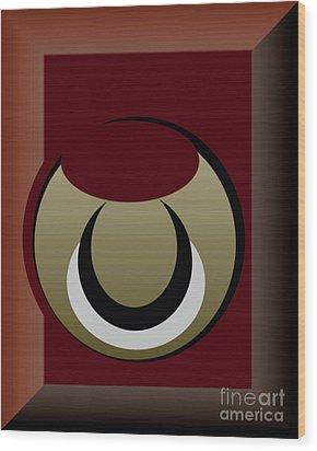 Wood Print featuring the digital art Outside The Box by John Krakora