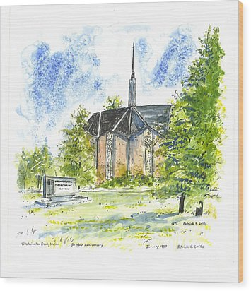 Outside The Sanctuary At Westminster Presbyterian Chuch Wood Print