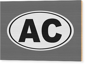 Wood Print featuring the photograph Oval Ac Atlantic City New Jersey Home Pride by Keith Webber Jr