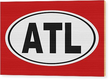 Wood Print featuring the photograph Oval Atl Atlanta Georgia Home Pride by Keith Webber Jr