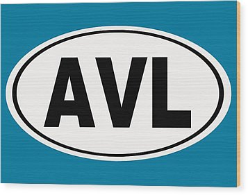 Wood Print featuring the photograph Oval Avl Asheville North Carolina Home Pride by Keith Webber Jr