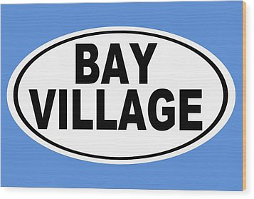 Wood Print featuring the photograph Oval Bay Village Ohio Home Pride by Keith Webber Jr