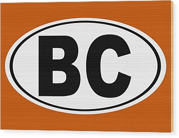 Wood Print featuring the photograph Oval Bc Boulder City Colorado Home Pride by Keith Webber Jr