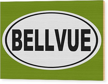 Wood Print featuring the photograph Oval Bellvue Colorado Home Pride by Keith Webber Jr