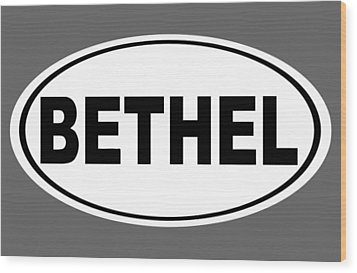 Wood Print featuring the photograph Oval Bethel Connecticut Home Prid by Keith Webber Jr