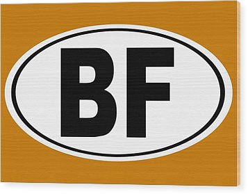 Wood Print featuring the photograph Oval Bf Beaver Falls Pennsylvania Home Pride by Keith Webber Jr
