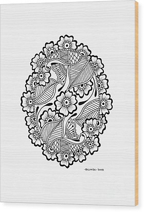 Oval Lace Wood Print