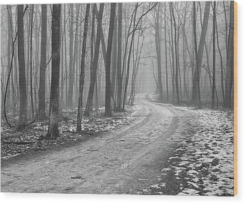 Over River And Through Woods Wood Print by N. Vivienne Shen Photography