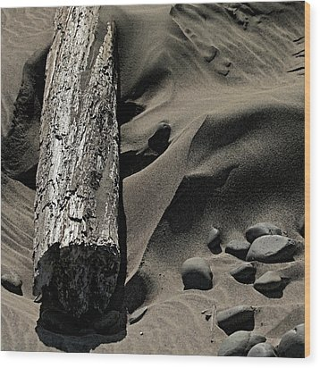 Over The Dune Wood Print by Bonnie Bruno