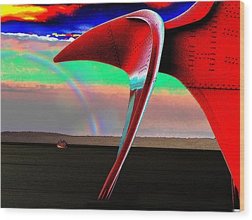 Over The Rainbow Wood Print by Tim Allen
