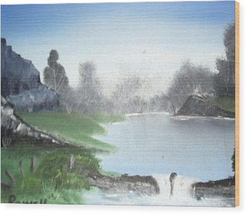 Over The River Wood Print