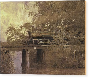 Over The River Wood Print by Scott Hovind