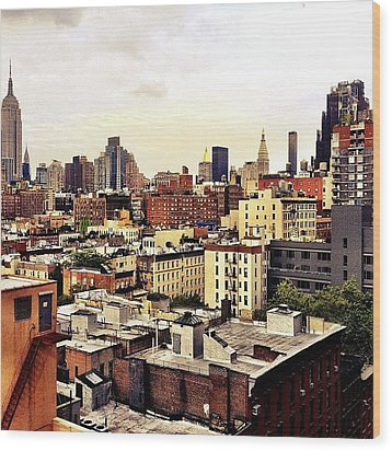 Over The Rooftops Of New York City Wood Print