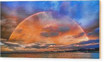Over The Top Rainbow Wood Print